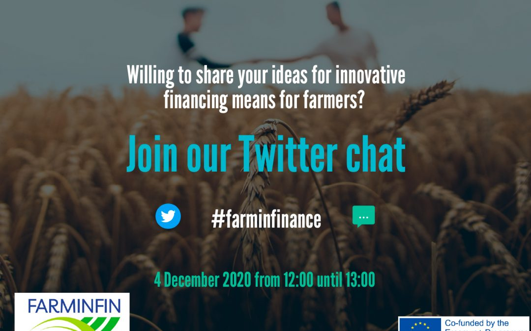 Join #farminfinance Twitter chat on December 4 at 12!