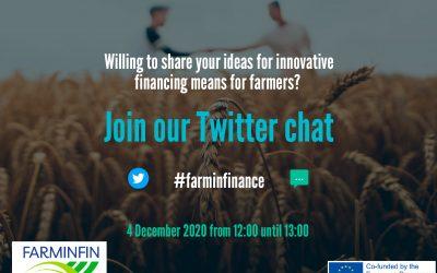 Připojte se k #farminfinance Twitter chatu 4. prosince 2020 ve 12 hodin.